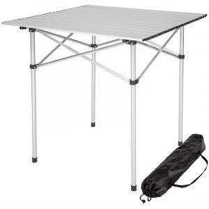 TecTake Table de camping pliable pliante en aluminium portable 70x70x70cm + sac de transport