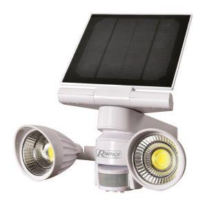 Ribimex Spot solaire 2x5 w LED, 800 lumens, avec détecteur