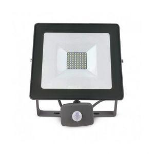 Vision-El Projecteur Gris anthracite avec Détecteur 50W (450W) IP65 Led Blanc froid 6000°K -