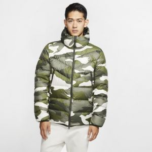 Nike Veste à capuche imprimée Sportswear Down Fill Windrunner pour Homme - Olive - Taille XL - Male