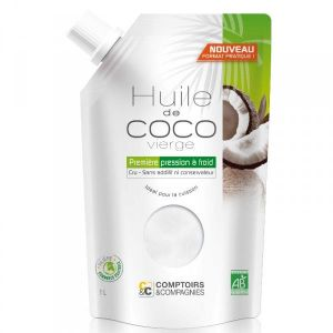Comptoirs et Compagnies Huile de coco vierge Bio - Doypack 1L