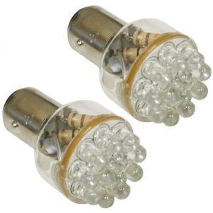 Aerzetix 2x Ampoule 24V P21/5W à 12LED