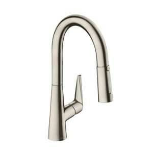 Hansgrohe Talis S Non with pull-out spray Non aspect inox
