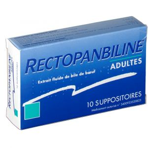 Meda Pharma Meda Rectopanbiline Adultes - 10 Suppositoires