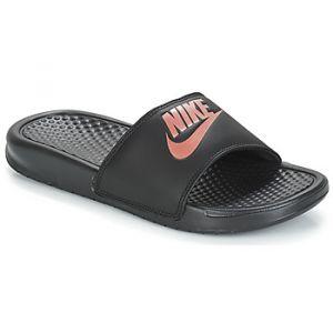 Nike Benassi Jdi Noire Et Rose Femme Sandales Femme