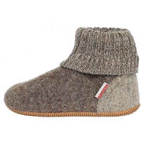 Giesswein Wildpoldsried, Chaussons Montants Mixte Enfant, Gris (Taupe 262), 26 EU