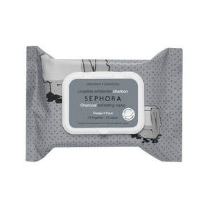 Sephora 25 lingettes exfoliantes charbon visage