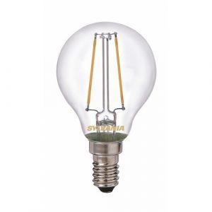 Sylvania E14 LED filament sphérique 250 lumens Blanc chaud
