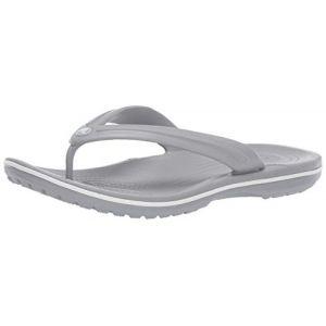 Crocs Crocband Flip, Tongs Mixte Adulte, Gris (Light Grey/White 00j), 41/42 EU