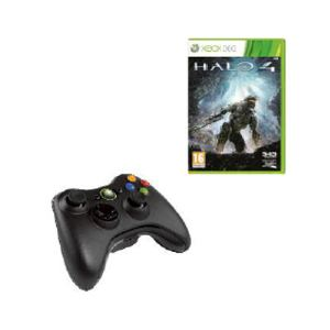Microsoft Manette sans fil + le jeu Halo 4