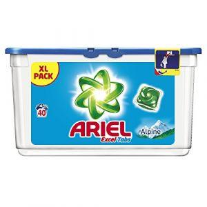 Ariel Lessive Excel Tabs Alpine 40 lavages - lot de 2