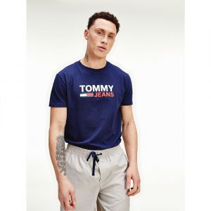 Tommy Hilfiger T-shirts Tommy-jeans Corp Logo - Twilight Navy - M