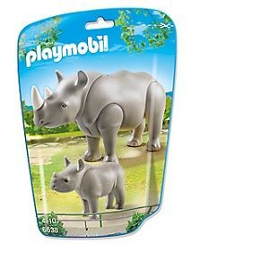 Playmobil 6638 City Life - Sachet rhinocéros et son petit