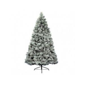 Vancouver - Sapin de Noël artificiel pré-illuminé vert enneigé (240 cm)