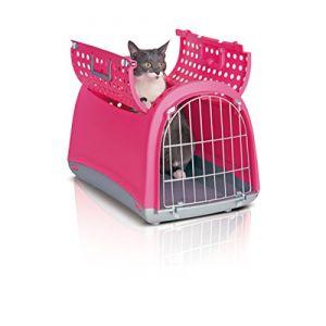 Imac Caisse de transport Linus Cabrio M pour Chien et Chat - Rose