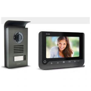 Extel NOVA 720287 Portier vidéo gris avec mémoire de passage sur carte SD
