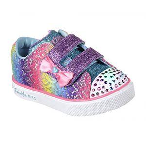 Skechers Twinkle Breeze 2.0-Colour Croc, Baskets bébé Fille, Multicolore (Multicoloured), 23 EU