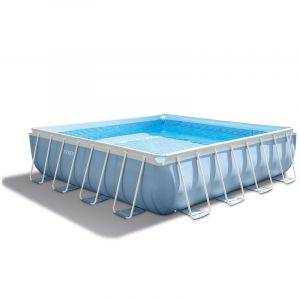 Intex 28764 - Piscine tubulaire carrée 4,27 x 4,27 x 1,07 m