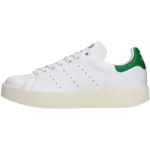 Adidas Stan Smith Bold, Baskets Femme, Blanc (Footwear White/Footwear White/Green), 40 2/3 EU