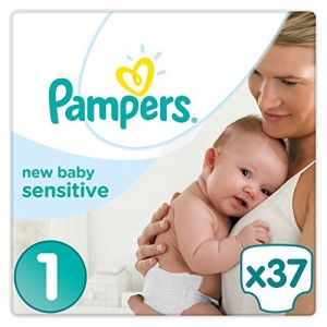 Pampers New Baby Sensitive taille 1 (2-5 kg) - Pack géant 2 x 37 couches