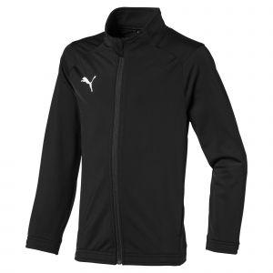 Puma Liga Sideline Poly Jacket Core Jr Veste De Survêtement Garçon, Noir Blanc, FR : 6 Ans