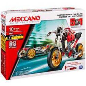 Meccano Jeu de construction Voiture et moto 5 modèles
