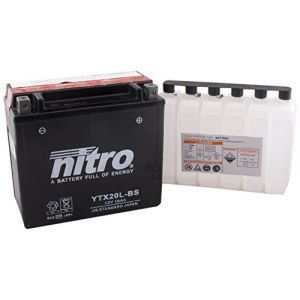 Nitro Batterie YTX20L-BS AGM ouvert avec pack acide Type Acide