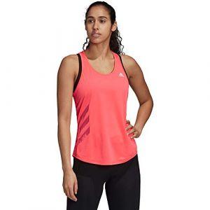 Adidas Run IT Tank 3S Top sans manches pour femme Rouge Taille XL