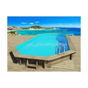Habitat et Jardin Ibiza - Piscine hors-sol, semi-enterrée ou enterrée en bois 857 x 457 x 131 cm