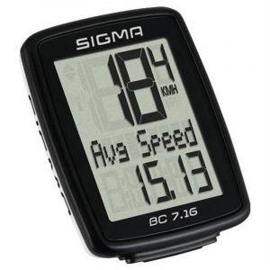 Sigma BC 7.16 ordinateur vélo à fil Noir/Blanc Standard