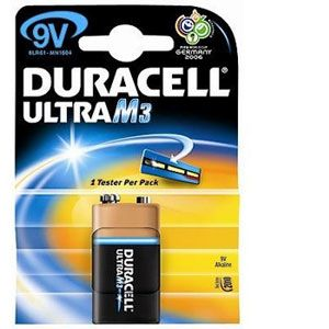 Duracell Pile LR61 9V Type 6LR61 ULTRA POWER