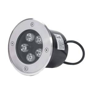 Silamp Spot LED Extérieur Encastrable IP65 220V Sol 5W 80° Ø130 - Blanc Chaud 2300K - 3500K -