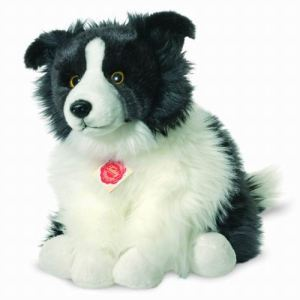 Hermann Teddy Peluche Chien Border Collie assis 30 cm
