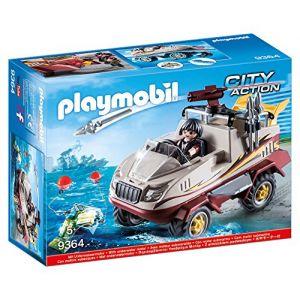 Playmobil 9364 - City Action : Véhicule amphibie et bandit