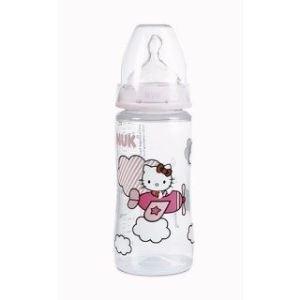 Nuk 710300 - Biberon incassable Hello Kitty 300 ml avec tétine en silicone T1 M