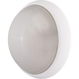 Ebénoid Hublot fluo 7W + 18W Ø 300mm blanc opale avec lampes 4000K 2G7 et G24q-1 et ballasts elec CL2 IK10 IP44 OPTION 078371