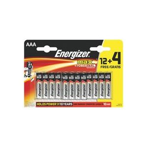 Energizer Piles MAX lot de 12 piles + 4 gratuites AAA/LR3