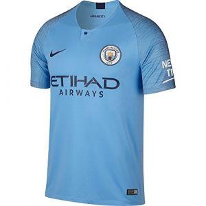 Nike Maillot de football 2018/19 Manchester City FC Stadium Home pour Homme - Bleu Taille XL