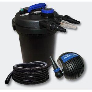 Kit de Filtration à Pression 10000l 11W UVC Stérilisateur Pompe Tuyau