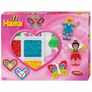 Hama Boîte de perles moyennes 'les Coeurs'