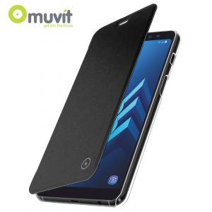 Muvit Etui Folio Case Noir Pour Samsung Galaxy A8 2018