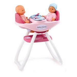 Smoby Chaise haute pour poupons jumeaux