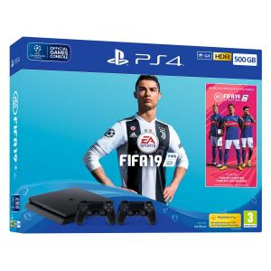 Sony Console PS4 Slim 500Mo+FIFA19+2nd DS4+Voutcher