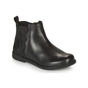 Geox J Shawntel Girl A, Chelsea Boot Filles, Black (Black), 35 EU