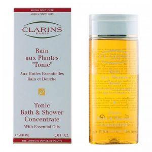 """Clarins Bain aux plantes """"Tonic"""" aux huiles essentielles - Bain et douche - 200 ml"""