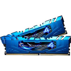 G.Skill F4-3000C15D-16GRBB - Barrette mémoire RipJaws 4 Series Bleu 16 Go (2x 8 Go) DDR4 3000 MHz CL15