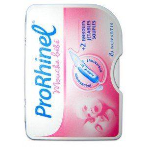 Novartis ProRhinel - Mouche bébé + 2 embouts jetables souples