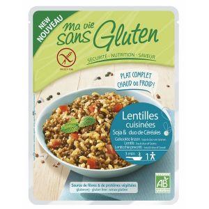 Ma vie sans gluten Céréales cuisinées lentilles/soja/duo riz sarrasin 220gr