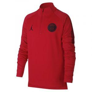 Nike Haut de football 1/4 de zip Paris Saint-Germain Squad pour Enfant plus âgé - Rouge - Taille XS