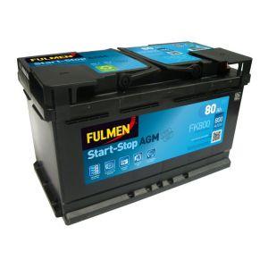 Fulmen Batterie auto START-STOP AGM FK800 (+ droite) 12V 80AH 800A